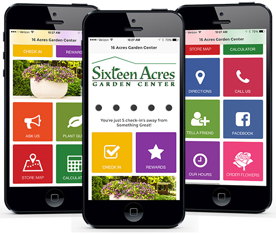 mobile app 16 acres garden center